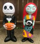 Nightmare Before Christmas Jack And Sally Plastic Light Up BLOW MOLD 36 NEW