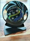 Rollin Karg glass art Disc with Stand