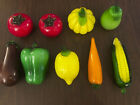 Fruits  Vegetables Glass Decor Murano Style Red Green purple Lot of 9 LIFE SIZE