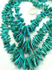 BLUE TURQUOISE GRADUATED Slices top drilled 6 20mm GEMSTONE BEADS NATURAL 16