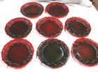 8 SALAD PLATES 7 1 2 RUBY RED AVON 1876 CAPE COD COLLECTION
