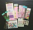 Scrapbooking Stickers Lot Dimensional Transfers Metal Journal Tags Brads 300+ Ct