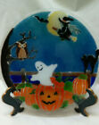 Peggy Karr Halloween Fused Glass 11 Round Platter