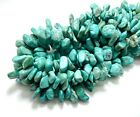 Genuine Natural Arizona Turquoise Smooth Chips Nugget Gemstone Beads PGS236