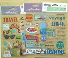Scrapbooking Stickers Travel Vacation Lot 130 Woven Labels Tags Canvas Patches