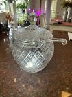 Beautiful Waterford Crystal Pineapple lidded punch bowl with ladle