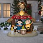 5 PEANUTS NATIVITY SCENE Airblown Yard Inflatable CHARLIE BROWN LUCY  SNOOPY