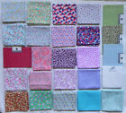 25 Fat Quarters Assorted Small Floral Patterns 18x21 Cotton Fabric New