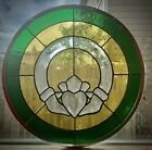Claddaugh Stained Glass window panel 18 Across