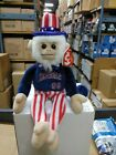 Rally Monkey LA ANGELS Uncle Sam TY Beanie Baby Babies