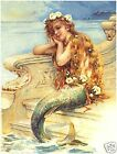 Victorian LITTLE MERMAID New CANVAS Art Print LARGE