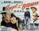 ANGEL AND THE BADMAN MOVIE POSTER John Wayne VINTAGE 1