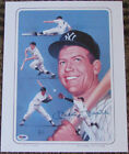 Mickey Mantle Signed Autograph Litho #H46811 PSA DNA 11x14 Yankees