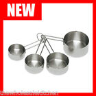 NEW STAINLESS STEEL COMMERCIAL MEASURING CUP SET