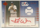 Jered Weaver 2003 UD - USA - GU Jersey RED Ink Auto RC #'d 250 350 - LA ANGELS