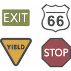 Quickutz Lifestyle REV 0050 Revolution Die Road Signs