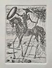 Salvador Dali DON QUIXOTE Plate Signed Restrike Etching in Mint Condition