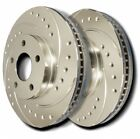 SP Performance F52 4024 P Drilled Slotted Plated Rotor Pair fit Geo Prizm