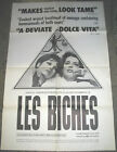 LES BICHES ORIGINAL US ONE SHEET MOVIE POSTER CLAUDE CHABROL
