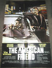 THE AMERICAN FRIEND ORIGINAL US ONE SHEET MOVIE POSTER WIM WENDERS