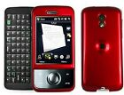 Red Snap On Hard Plastic Phone Protector Cover Case For Sprint HTC Touch Pro