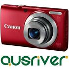 Canon Power Shot Powershot A4000 IS 16MP 4x Red Digital Camera 3