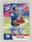 2011 DONRUSS VICTOR CRUZ RC ROOKIE AUTO RATED ROOKIE