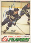 1977-78 O-PEE-CHEE - BOBBY LALONDE #313 AUTOGRAPH RTC