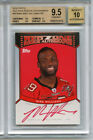 2010 Topps Red Zone Mike Williams Auto BGS 9.5 Pop1 RC Bucs