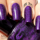 ★Glitter Gal★ Crushed Ego - Dark Purple Holographic Holo 3D Nail Polish