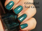 Glitter Gal - Teal Green - Dark Deep Forrest Holographic Holo 3D Nail Polish