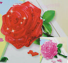 3D Crystal Model DIY Rose Puzzle Jigsaw  IQ Toy Furnish Gift Souptoys Gadget