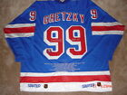 WAYNE GRETZKY AUTO RANGERS CAREER STATS AUTHENTIC STARTER PRO JERSEY WGA LE199