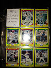 1982 Topps Drakes Big Hitters Baseball Set 33 Cards Includes 9 Pocket Pages
