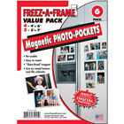 Freez A Frame Combo Pack 4 4X6  2 5X7 Magnetic Photo Frames 6 PACK 34425