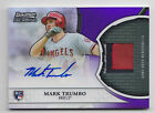 2011 BOWMAN STERLING MARK TRUMBO PURPLE REFRACTOR ROOKIE AUTO PATCH # 9 10