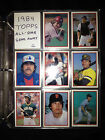 1984 Topps All Star Send Away Set 40 Cards Includes 9 Pocket Pages