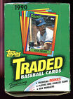 1990 Topps Traded Baseball Card Wax Pack Box Rookies