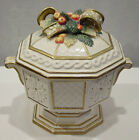 FITZ & FLOYD SNOWY WOODS SOUP TUREEN WITH LID NEW WITH TAG