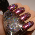 Nfu Oh - GS04 - Glitter Series - Silver Grey Holo Holographic Nail Polish
