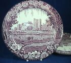 Wood & Sons CASTLE-PURPLE 2 Dinner Plates GREAT VALUE