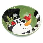FROSTY'S FROLIC SNOWMAN SERVING BOWL BY FITZ & FLOYD Beautiful Christmas NEW