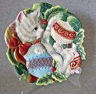 Fitz & Floyd Kristmas Kitty Canape Plate~exc.cond.