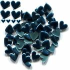 HEARTS Smooth Rhinestuds 6mm Hot Fix PEACOCK BLUE 1 gross
