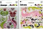 BASIC GREY Clear Stamps  Rub Ons AURA  EVA EXOTIC ABSOLUTELY BEAUTIFUL
