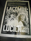 LACOMBELUCIEN ORIG US ONE SHEET MOVIE POSTER LOUIS MALLE