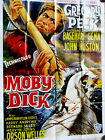 Moby Dick 1956 R1980s John HustonGregory PeckFrench Movie Poster 47x63