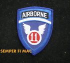 11th AIRBORNE DIVISION HAT PATCH US ARMY PIN UP AIR ASSAULT GLIDER PARACHUTE USA