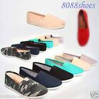 Womens Cute Soda Canvas Round Toe Causal Slip On Flat Sandal Shoes Size 55 10