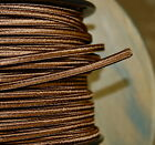 Brown 2 Wire Cloth Covered Cord 18ga Vintage Style Lamp Lights Antique Fan Rayon